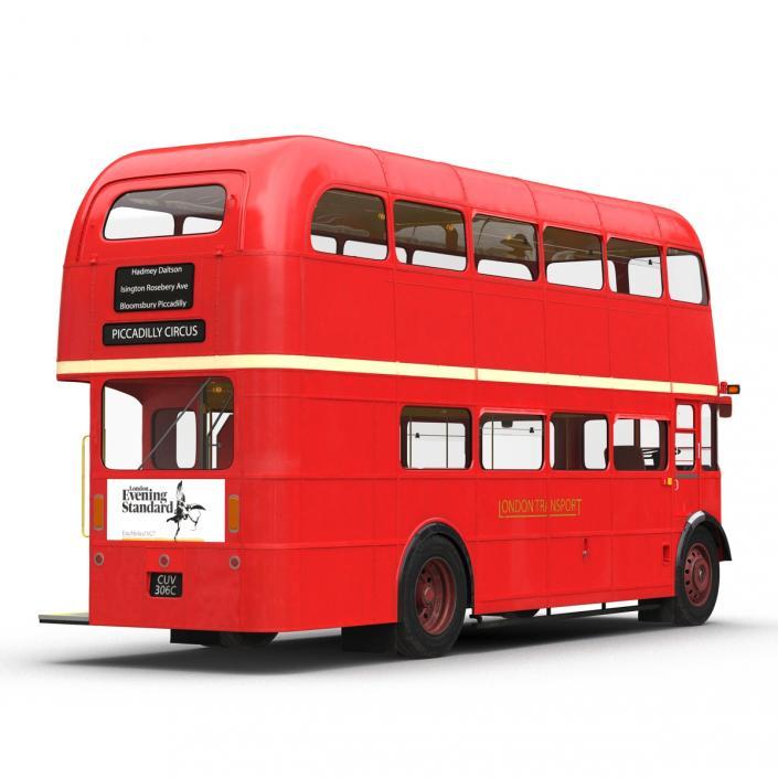 3D London Bus Routemaster Simple Interior model