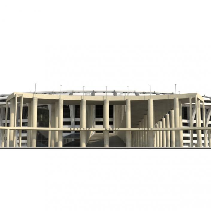 3D model Football Stadium Maracana