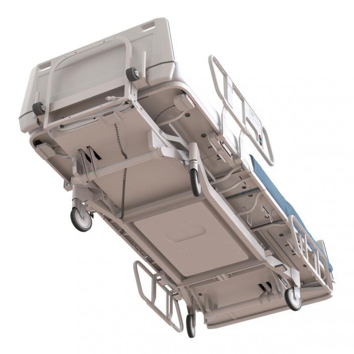 Hospital Bed Rigged 3D model