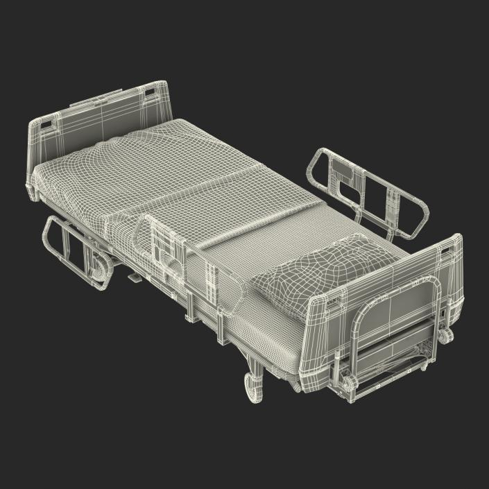 Hospital Bed Rigged 3D model