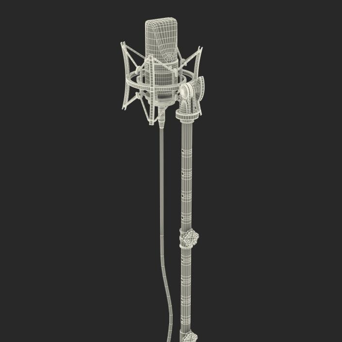 3D model Condenser Microphone and Stand Rode