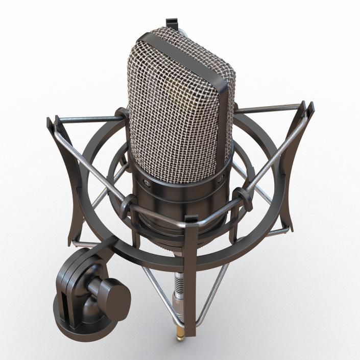 3D model Condenser Microphone Generic 2