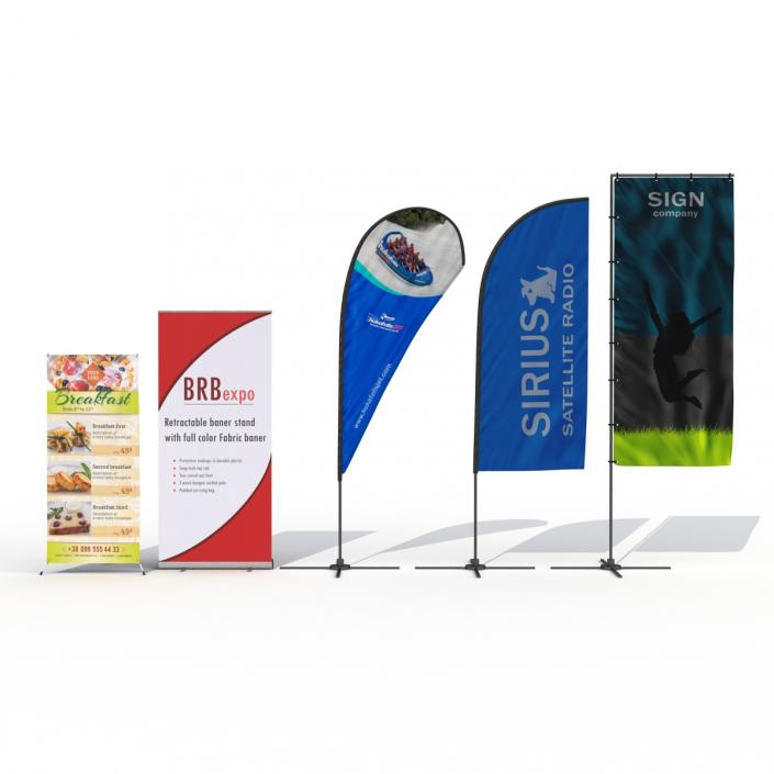 Banner Stands Collection 3D model | 3D Molier International