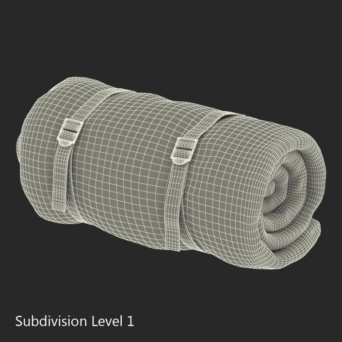 Folded Sleeping Bag 3D model