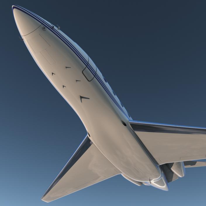 Gulfstream G650 Rigged 2 3D model