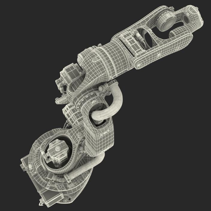 3D model Kuka Robot KR-16 arc HW Rigged