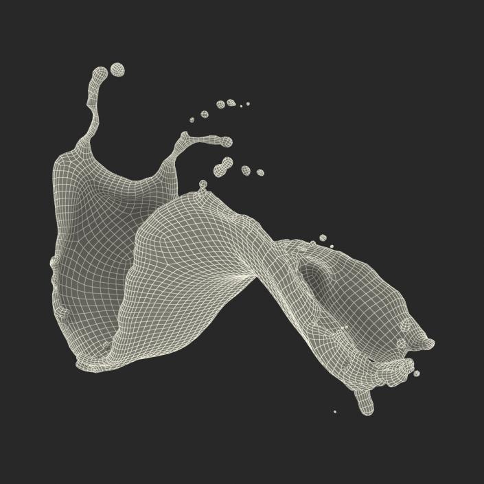 Splashed Out Liquid 3D model