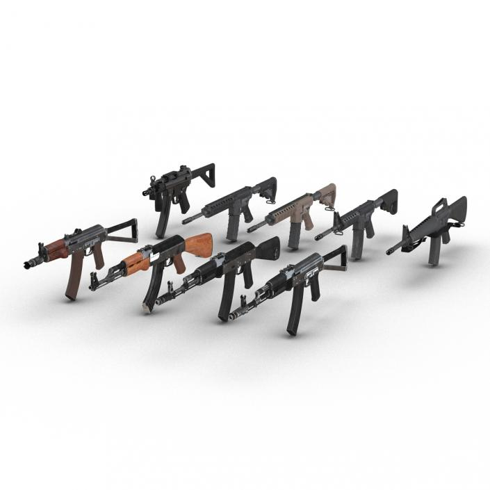 3D model Assault Rifles Collection