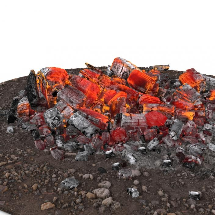 3D Fire Ashes and Embers