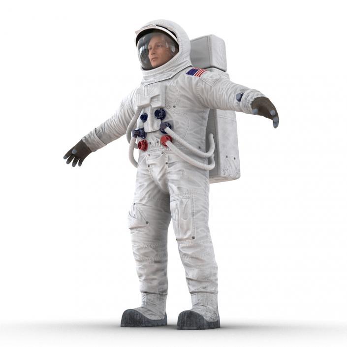 3D Astronaut NASA Wearing Spacesuit A7L