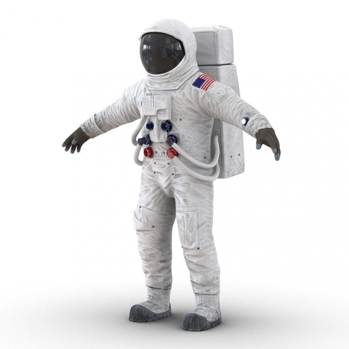 3D model Astronaut NASA Wearing Spacesuit A7L Rigged 2
