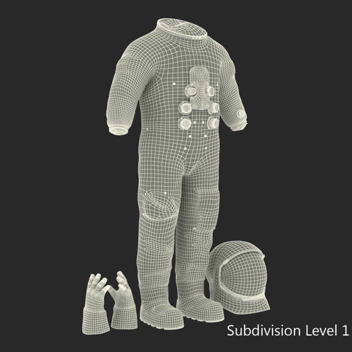 3D A7L Apollo and Skylab Spacesuit 3 model