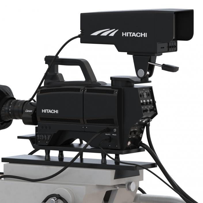 TV Studio Camera Hitachi 3D model