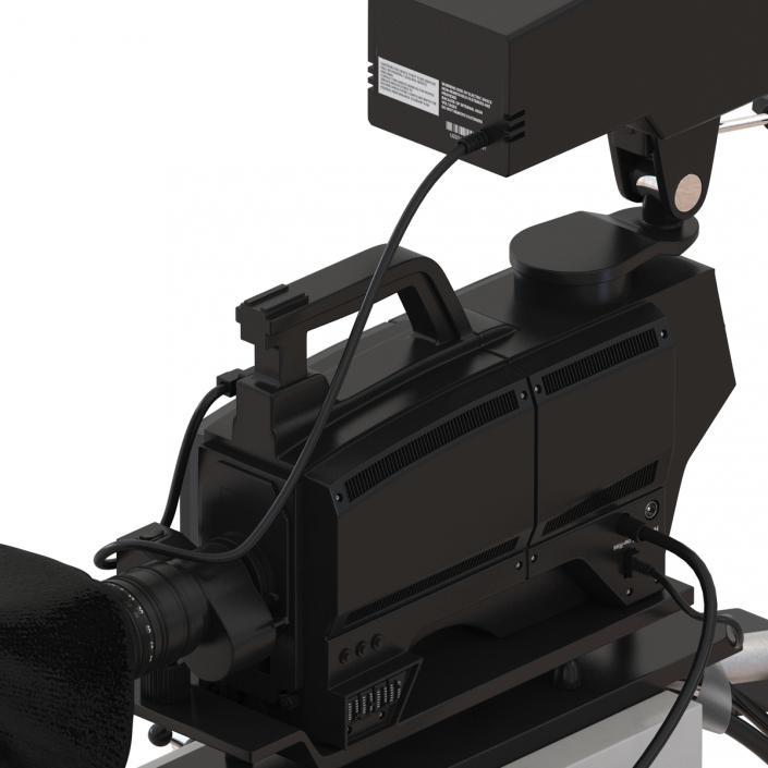 TV Studio Camera Generic 3D model