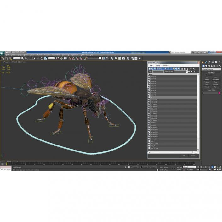 3D model Bee Rigged