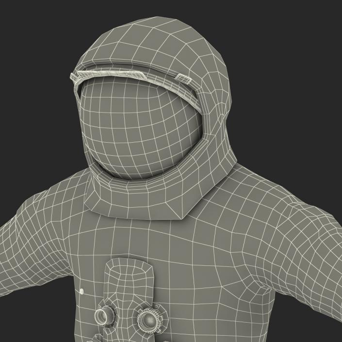 3D A7L Apollo and Skylab Spacesuit 2 model