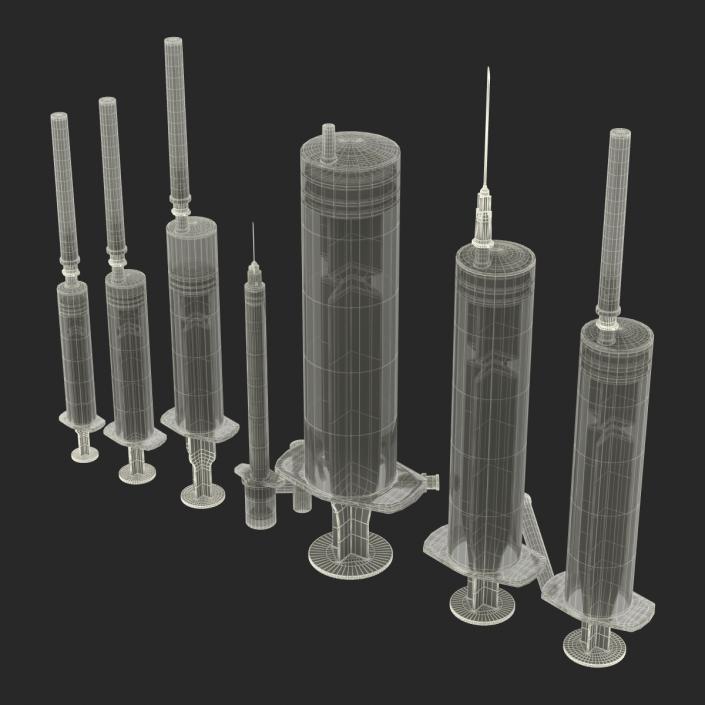 Disposable Syringe Set 3D