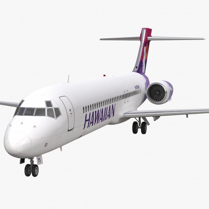 Boeing 717-200 Hawaiian Airlines 3D