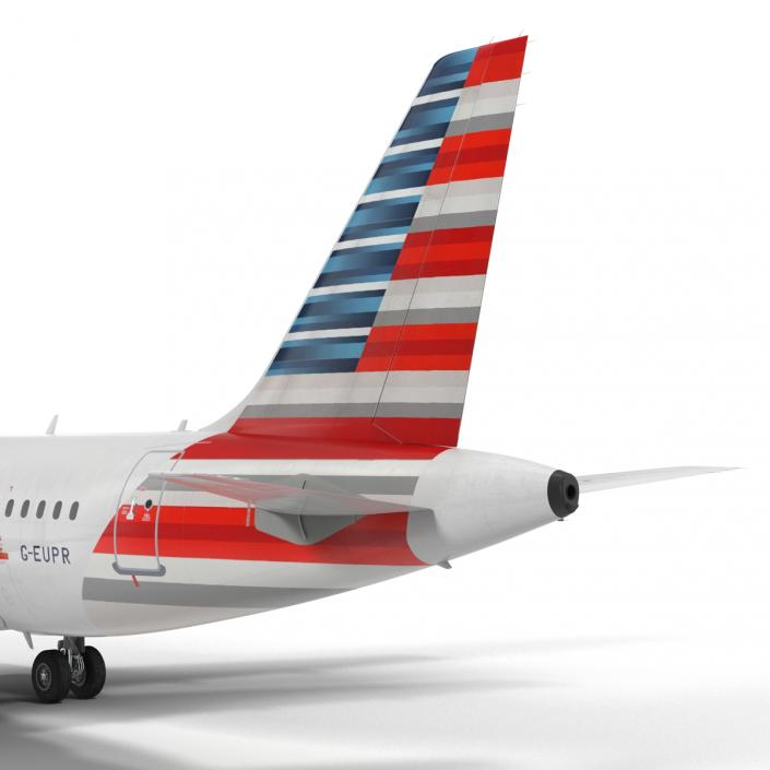 Airbus A319 American Airlines 3D model