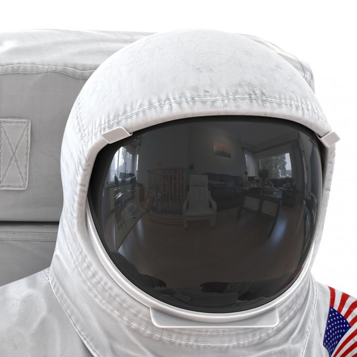 3D Astronaut NASA Wearing Spacesuit A7L Pose 2 model