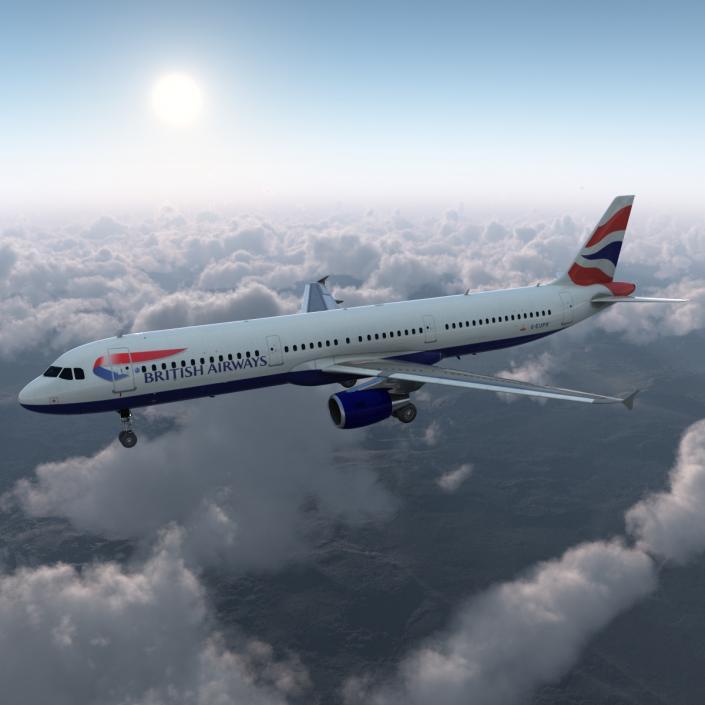 Airbus A321 British Airways 3D