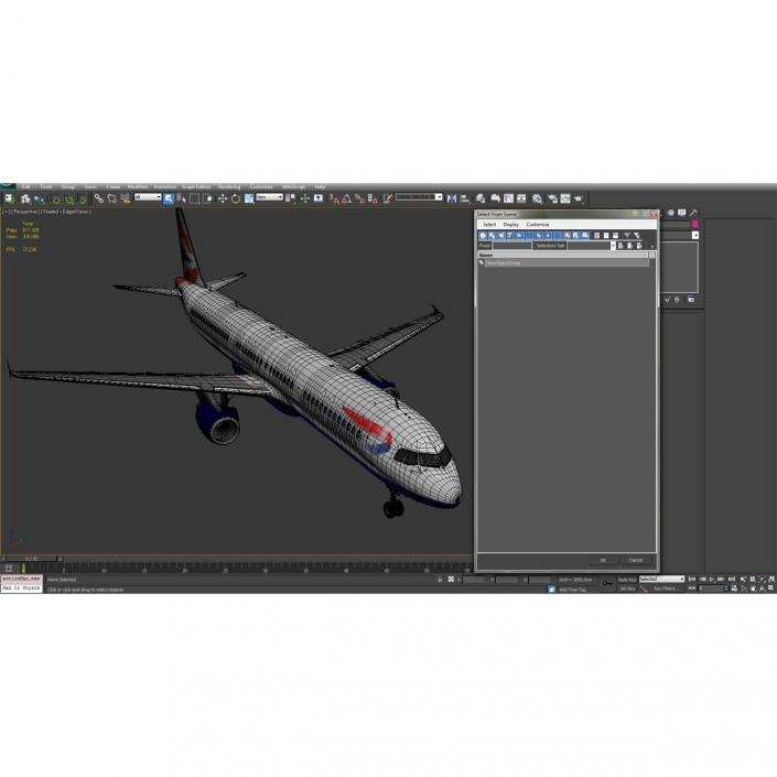 Airbus A321 British Airways 3D