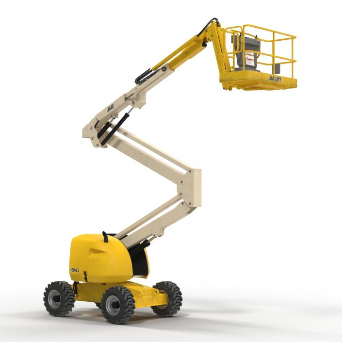 Telescopic Boom Lift JLG 450AJ Yellow 2 3D model