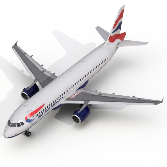 Airbus A320 British Airways 3D