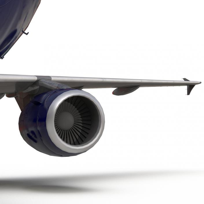 Airbus A320 British Airways 3D