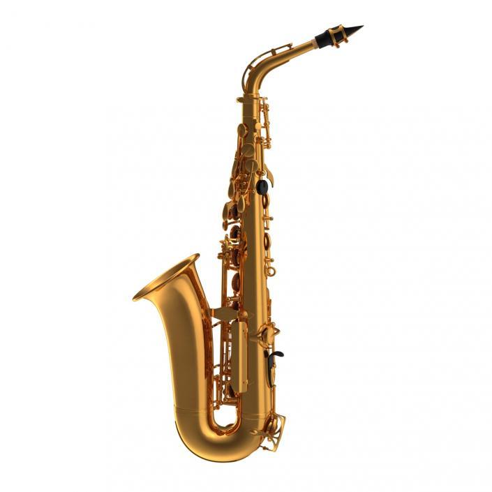 3D Golden Saxophone
