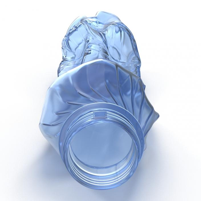 Crushed Plastic Bottle Blue 3D