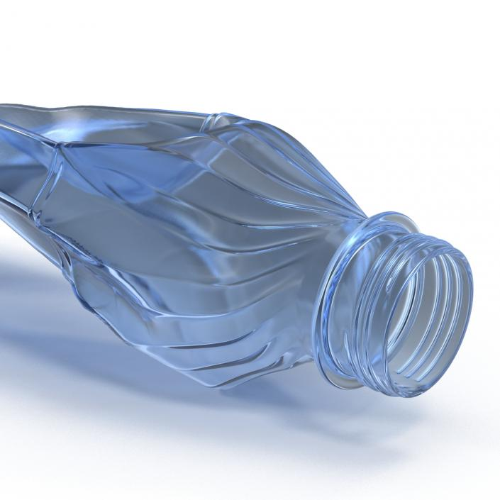 Crushed Plastic Bottle Blue 3D