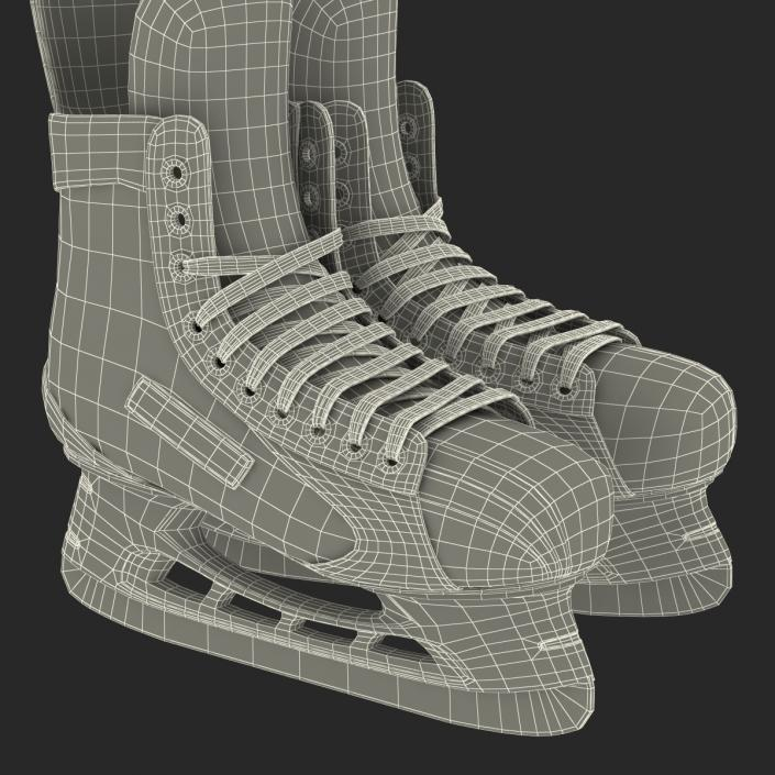 Hockey Skates Bauer 3D model