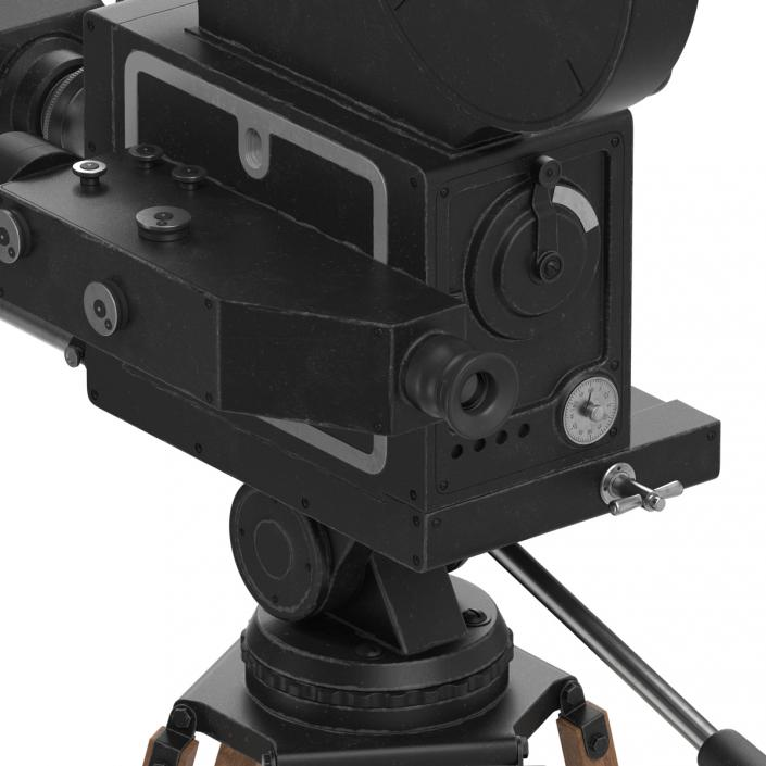 3D Vintage Video Camera and Tripod