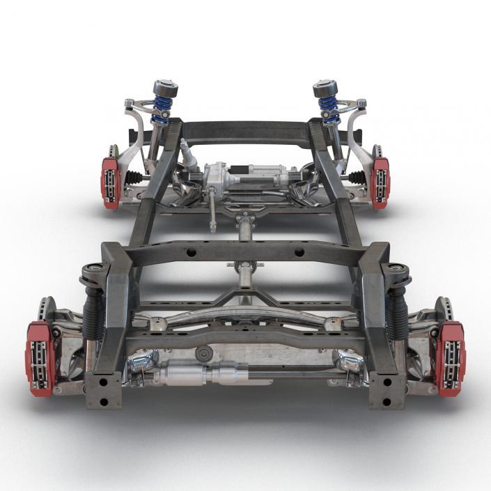 SUV Chassis Frame 2 3D model | 3D Molier International