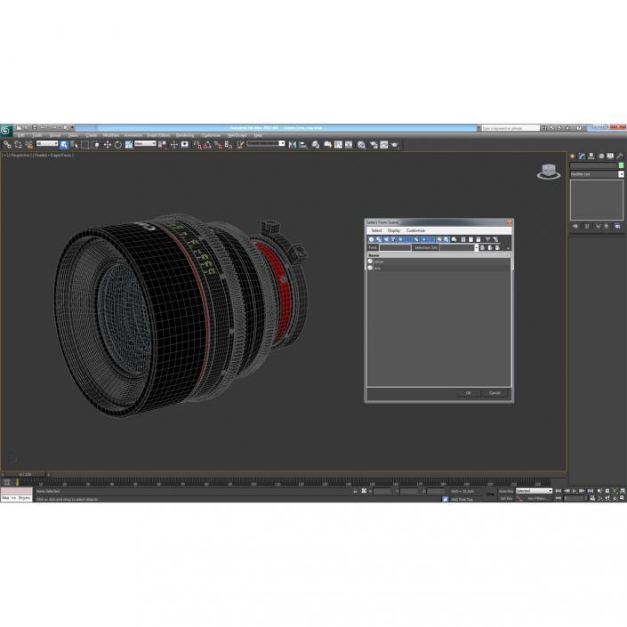 3D model Canon Lens