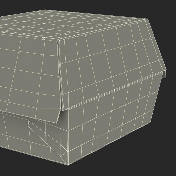 3D Burger Box Big Mac model