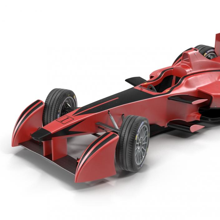 3D Formula E Race Car Generic Rigged model