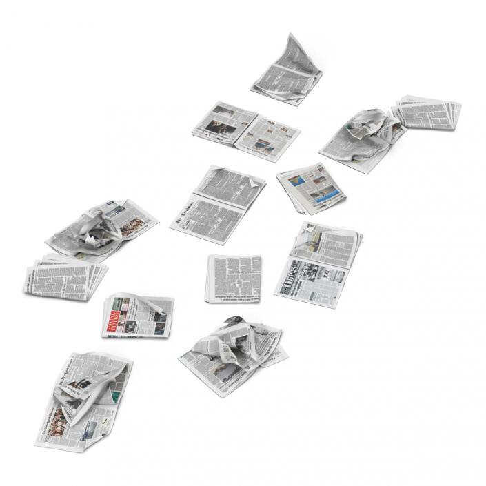 3D Newspaper Litter