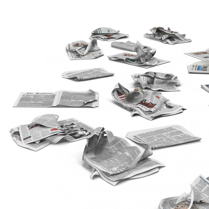 3D Newspaper Litter 2 model