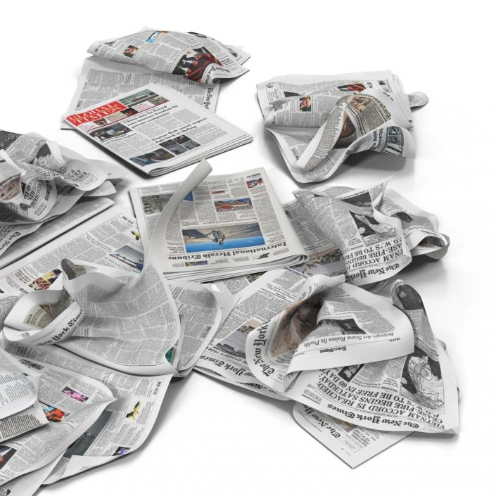 3D Newspaper Litter 4 model
