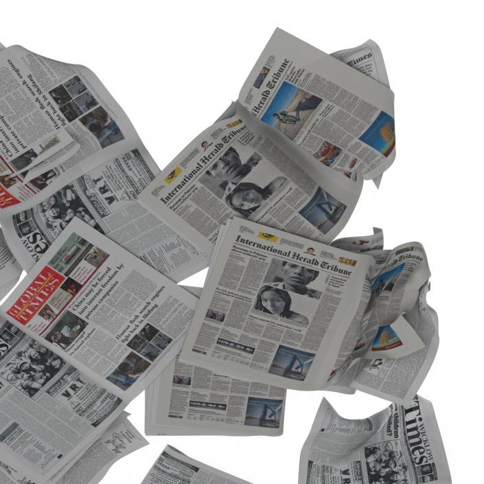 3D Newspaper Litter 4 model