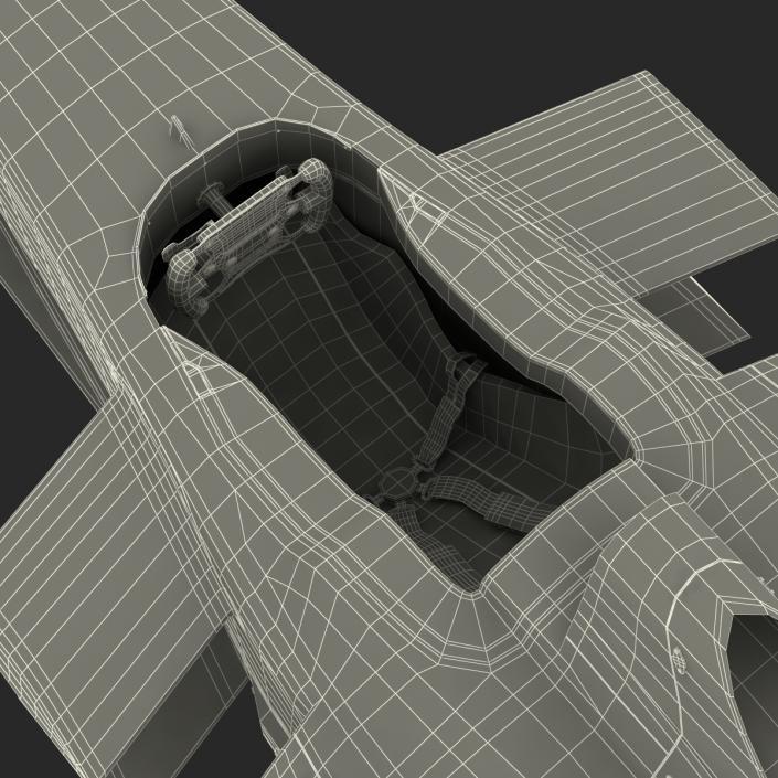 Formula E Race Car Qualcomm Rigged 3D model