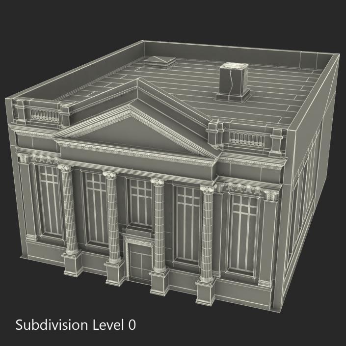 3D Building with Columns