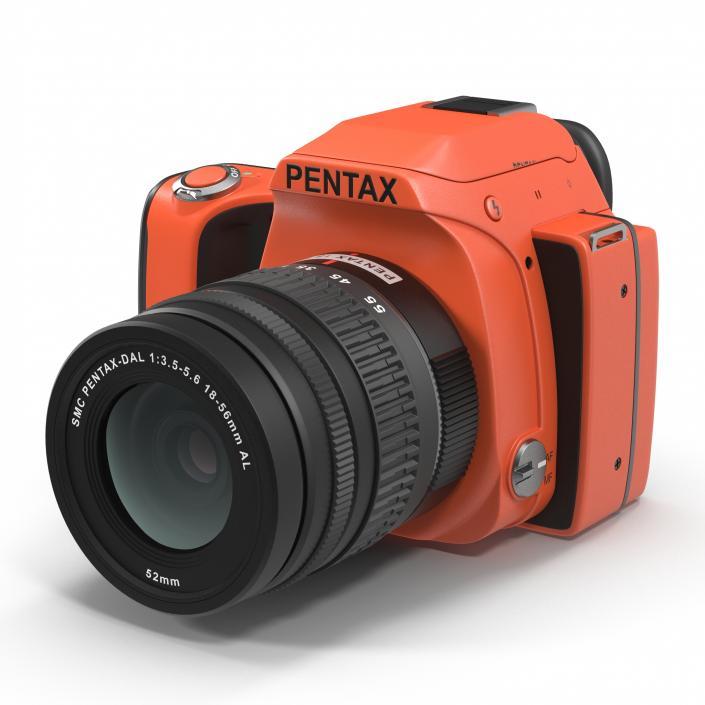 3D Pentax K-S1 Orange model