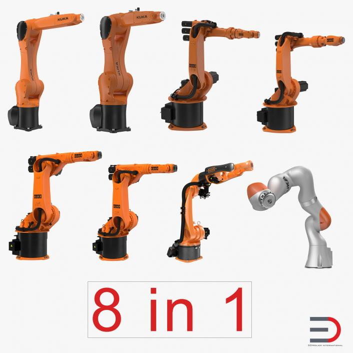 Kuka Robots Collection 3 3D model