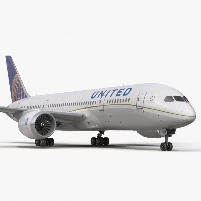 3D model Boeing 787-8 Dreamliner United