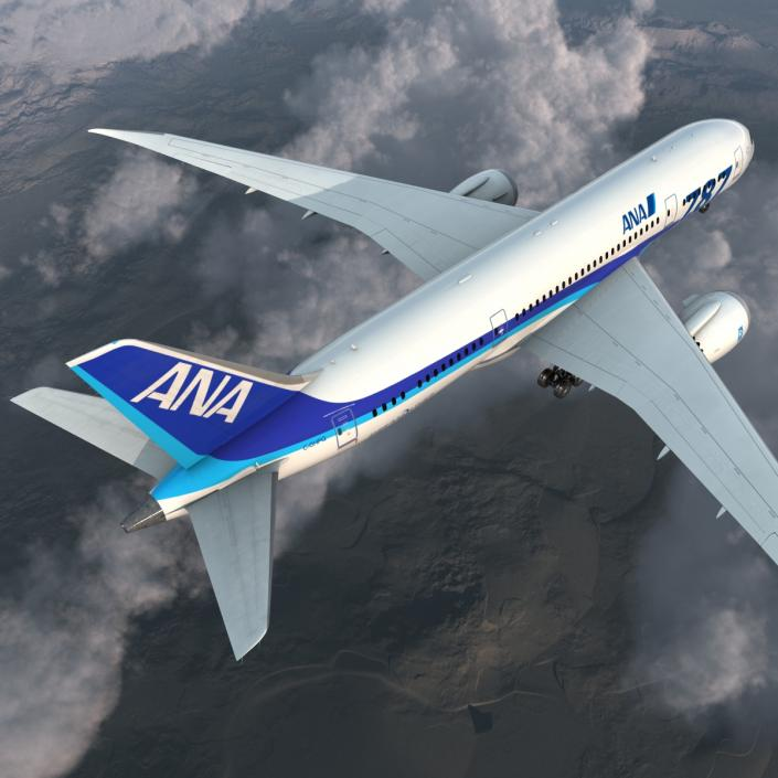 Boeing 787-8 Dreamliner All Nippon Airways 3D