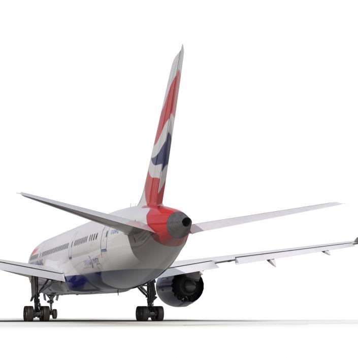 Boeing 787-8 Dreamliner British Airways 3D model