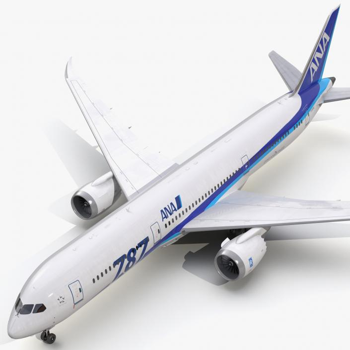 Boeing 787-9 Dreamliner All Nippon Airways 3D